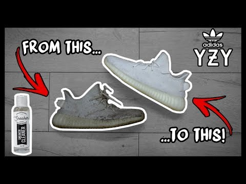 CLEANING FILTHY TRIPLE WHITE ADIDAS YEEZY 350's TO LOOK BRAND NEW AGAIN!