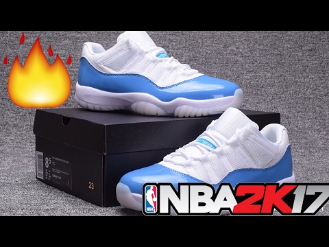 HOW TO MAKE JORDAN 11 LOW UNC/COLUMBIA BLUE | NBA 2K17