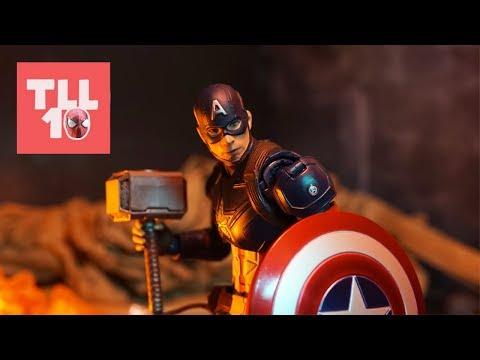 Endgame: Captain America vs Thanos Scene Stop-Motion Recreation