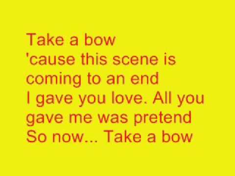 Take A Bow- Karaoke