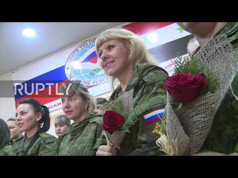 Syria: Aleppo's female medics presented with flowers and cake on Women's Day