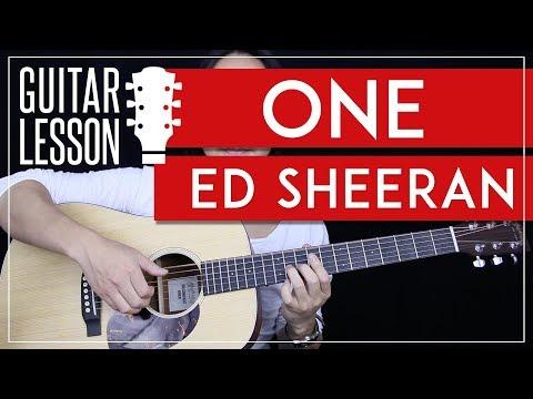 One Guitar Tutorial - Ed Sheeran Guitar Lesson 🎸 |Easy Version + Studio Version + No Capo + Cover|