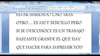 TUTORIAL COMO IMPRIMIR VARIOS ARCHIVOS PDF A LA VEZ
