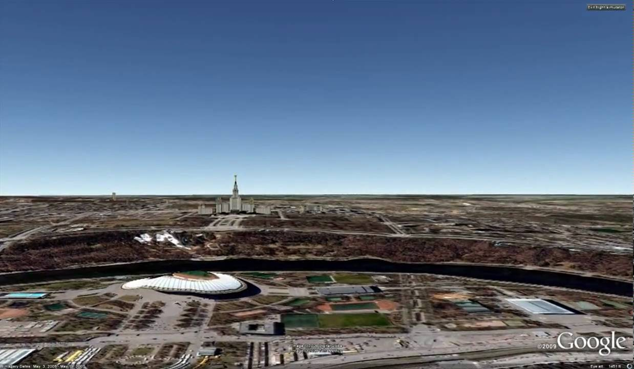 From Moscow with Google Earth Flight Simulator - YouTube