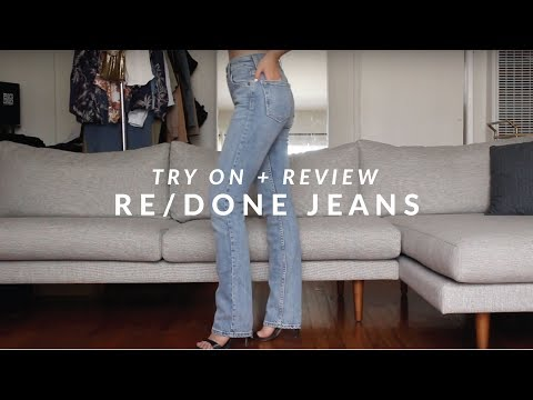 ShopReDone - Crawford Jean x Straight Skinny Jean Sizing & Fit - Try On + Review  | JULIA SUH