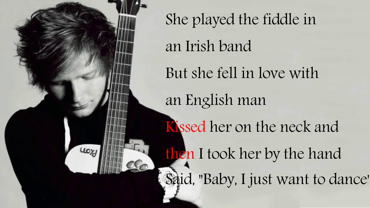 Ed sheeran galway girl lyrics letra youtube - Dive lyrics ed sheeran ...
