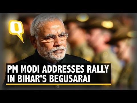 PM Modi Addresses a Rally in Bihar's Begusarai