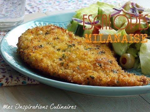 Recette escalope Milanaise / Chicken Milanese