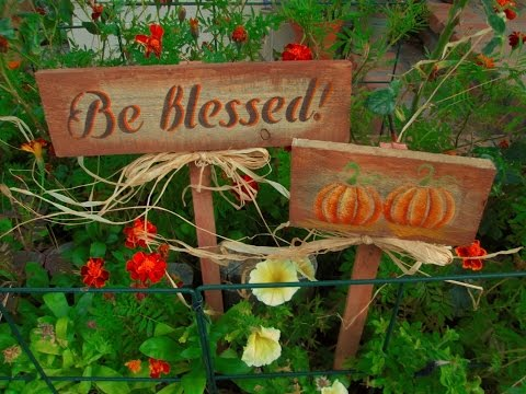Recycled Pallet Wood turned into Fall Signs ~ Featuring Miriam Joy