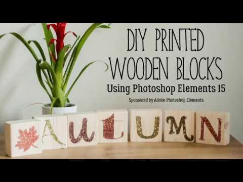 Create DIY Autumn Photo Wood Blocks with Rainy Day Mum