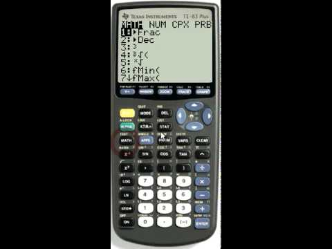 Math Npr And Ncr In The Prb Menu Youtube