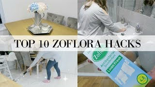 TOP 10 HACKS FOR USING ZOFLORA AROUND YOUR HOME | ZOFLORA CLEANING HACKS | CLEANING MOTIVATION