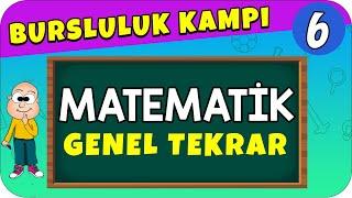 6.Sınıf Matematik  Bursluluk Sınavı Genel Tekrar