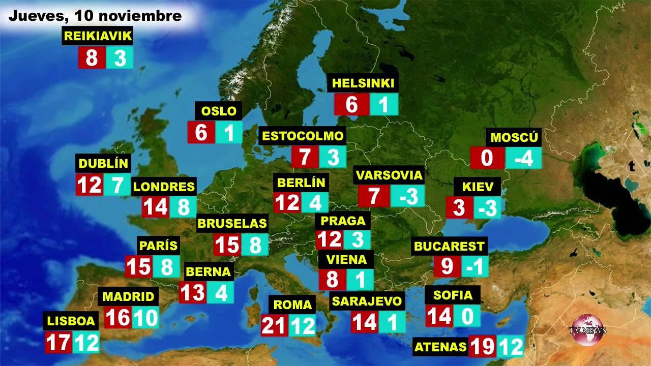 El tiempo en europa por pa ses previsi n del mi rcoles 9 for Temperatura en otura