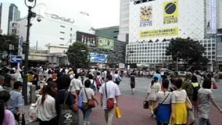 Vidéo prise à Tôkyô, quartier de Shibuya, en 2009. Un jour comme le...