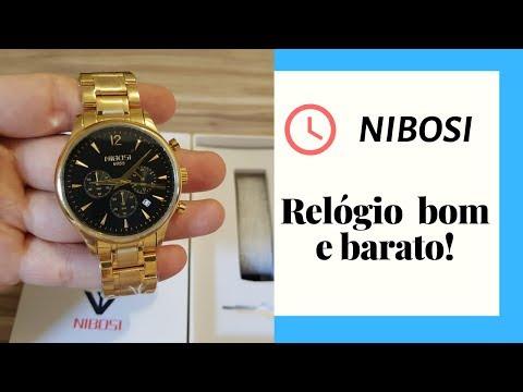 Relógios NIBOSI São Bons? (UNBOXING)