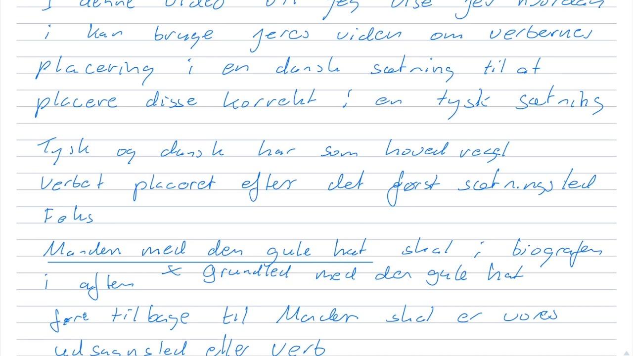 ligheder og forskelle på danske og tyske verber