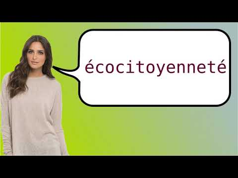 How to say 'environmental citizenship' in French?