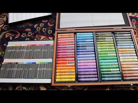 Pentel Artist and Mungyo Gallery Soft Oil Pastels FULL SET Unboxing Review Mp3