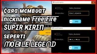 Cara Membuat Nickname Keren!!! Di FREE FIRE (Tutorial)