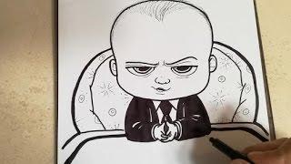 COMO DIBUJAR A BABY BOSS - UN JEFE EN PAÑALES / how to draw baby boss