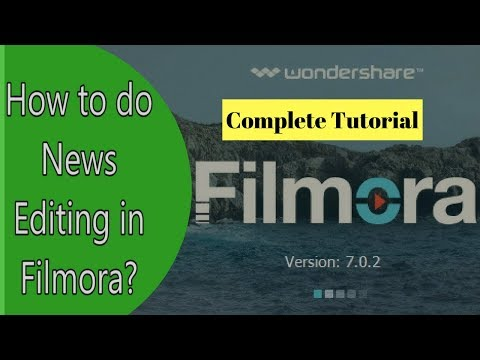 Learn News Editing in Filmora/In Hindi