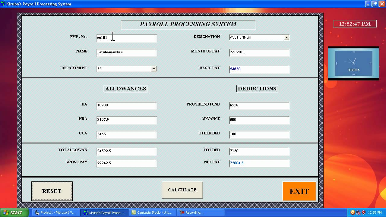 Visual Basic Payroll Processing Mp4 The Link Is Http