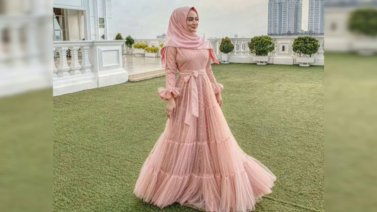 8 model gaun pesta muslim terbaru