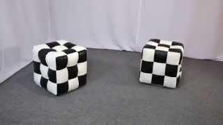 Мягкие пуфики кубики из эко-кожи | Бескаркасная мебель ТМ PromoPUFF(, 2015-07-01T09:12:10.000Z)