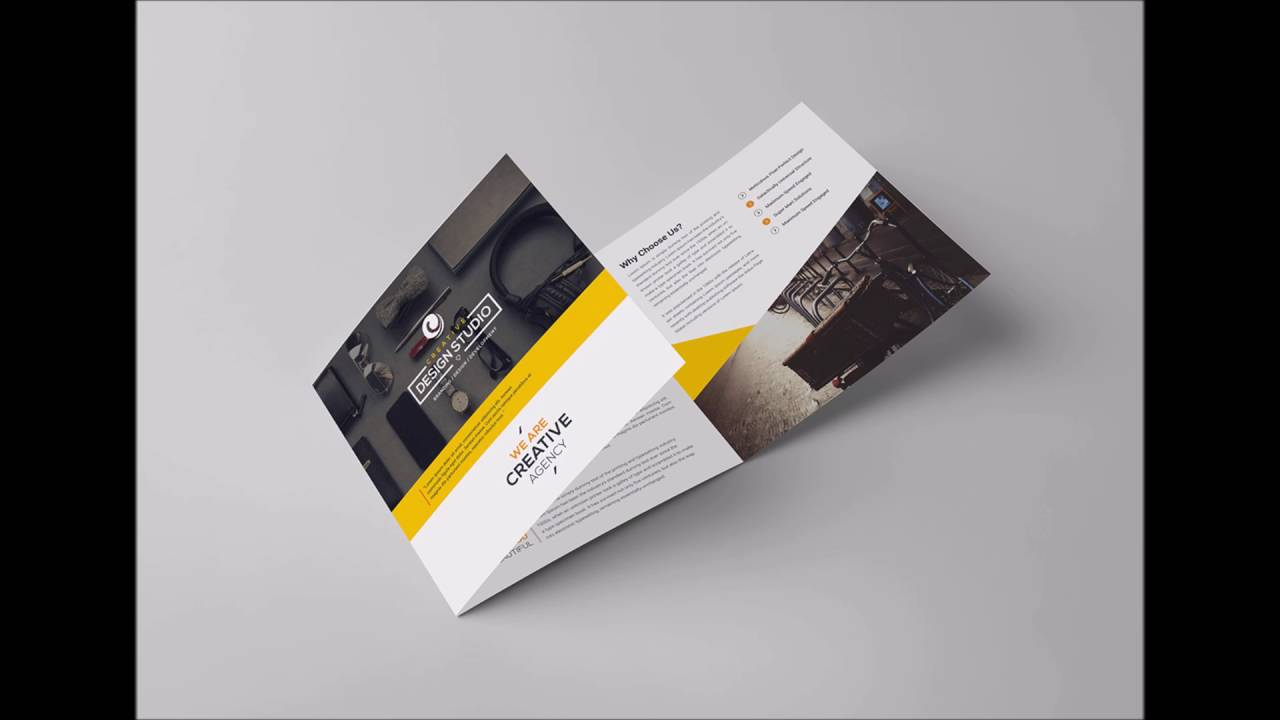 square trifold brochure youtube