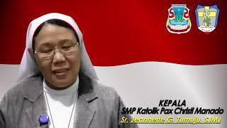 Sambutan Kelulusan - Kepala SMP Katolik Pax Christi Manado