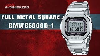 UPDATE: Casio G-SHOCK GMWB5000D-1 Silver Full Metal Square | Top 10 Things Watch Review