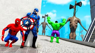 GTA 5 - RIESEN SIREN HEAD vs AVENGERS! ( !raid )
