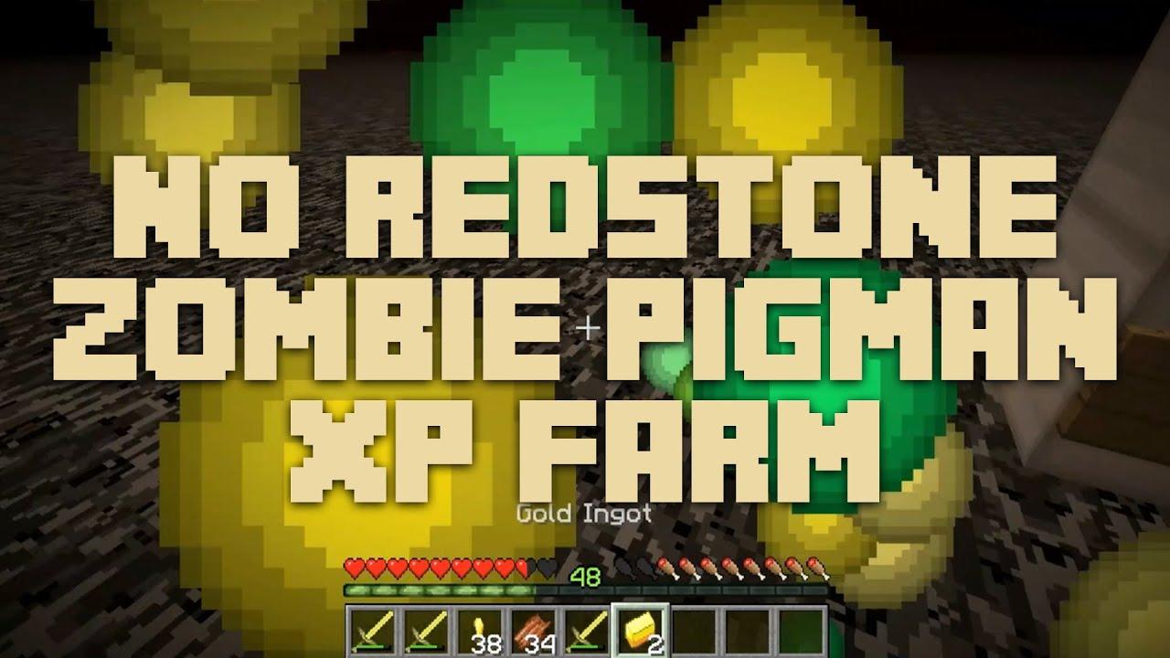 Minecraft Tutorial: No Redstone Zombie Pigman XP Farm