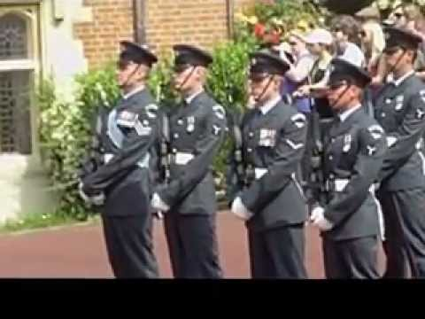 Queens Colour Squadron changing of the guards at Windsor Castle 29/5/2012