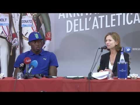 Usain Bolt - Golden Gala Press Conference 2013