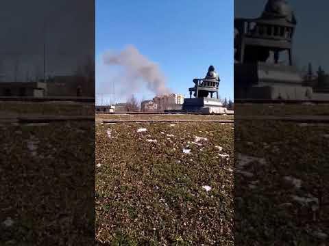 В центре Орла горит расселённый дом2