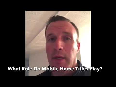 What Are Sarasota Mobile Home Titles?