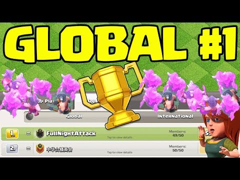 GLOBAL #1! Top Clash of Clans Builder Hall Clan and Friendly Challenges- LIVE!