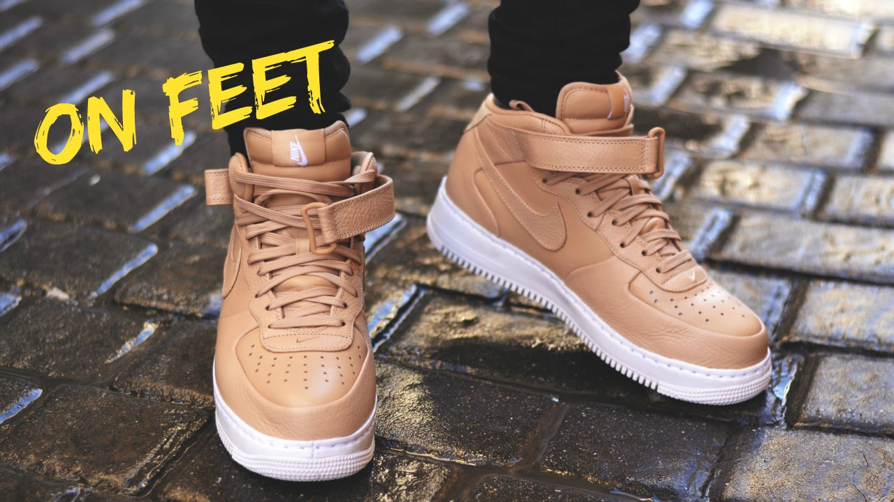 pretty nice 8b551 5301d ... Nike Air Force 1 Mid Vachetta Tan ON FEET! EN PIES!