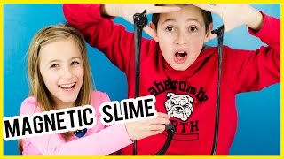 MAGNETIC SLIME PINTEREST DIY RECIPE TEST! HOW TO MAKE MAGNETIC PUTTY FUN SCIENCE EXPERIMENT