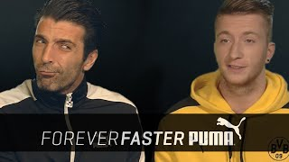 Buffon vs. reus | head to head battle | puma football