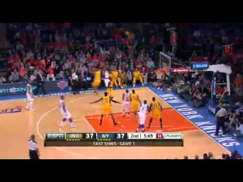 NBA Playoffs Conference 2013: Indiana Pacers Vs New York Knicks Highlights May 5, 2013 Game 1