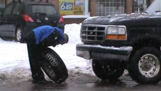 Wheel falls off half ton truck
