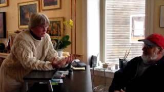 Katherine Cassidy talks with Al Erikson, Eastport