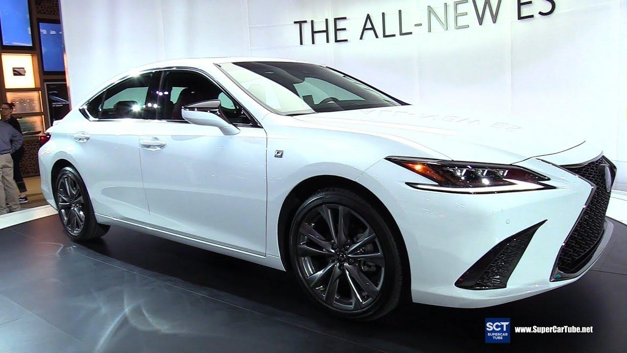 2019 lexus es 350 f sport - exterior and interior walkaround - debut 2018 la auto show