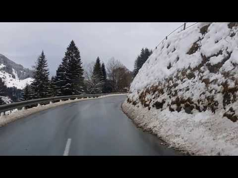 Driving to Gerlos (Austrian Alps)