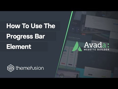 How To Use The Progress Bar Element Video