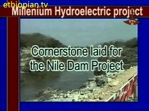 Meles Zenawi Laid the cornerstone for Great Millennium Dam of the Blue Nile, Ethiopia, Part 2 of 2