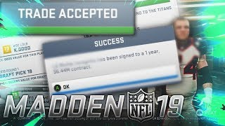 Huge Trade & Controversial Free Agent Signed! Madden NFL 19 Franchise Series ep. 1